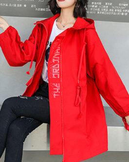 Casual Turndown Collar Long Sleeve Maxi Coat