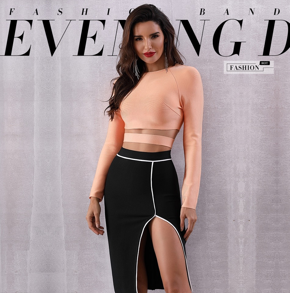 Sexy Hollow Out O Neck Celebrity Evening Party Short Top 7