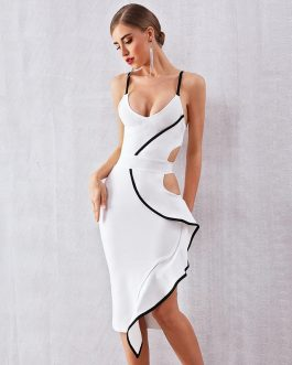 Sexy Hollow Out Runway Celebrity Bodycon Party Dress