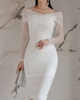 Sexy Long Sleeves Pencil Dress