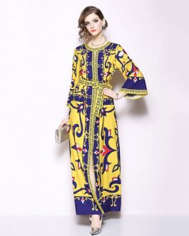 Vintage Elegant Vestido Long Party Maxi Dress