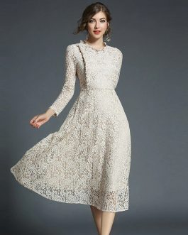 A-Line Lace Office Lady Party Dress