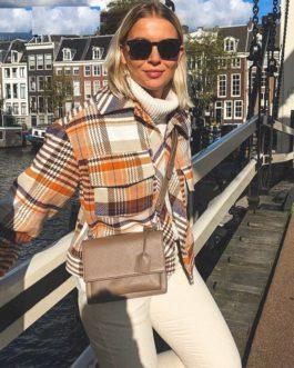 Casual Streetwear Plaid Long sleeve Coat