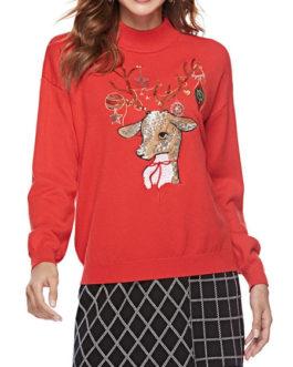 Christmas Long Sleeves Cotton Blend Hooded Sweatshirt