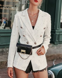 Double breasted office ladies Casual female blazer