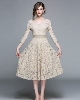 Fashion Elegant Office Lady Casual Dress