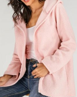 Faux Fur Casual Layered Hooded Coat