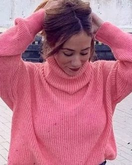 Streetwear Oversize Turtleneck Pullover Sweater