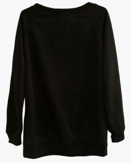 Leaf Pattern Long Sleeve Casual Sweatshirt