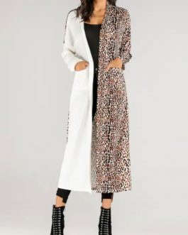 Leopard Print Retro Asymmetrical Coat