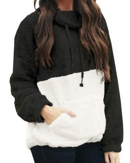 Long Sleeve Color Block Sweatshirt