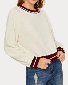 Long Sleeve Two Tone Sweatshirt