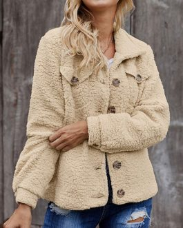 Long Sleeves Casual Oversized Turndown Collar Faux Fur Coats