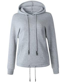 Hoodie Long Sleeves Pockets Hooded Sweatshirt