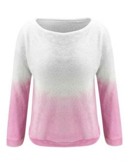 Long Sleeves Two Tone Sweatshirt