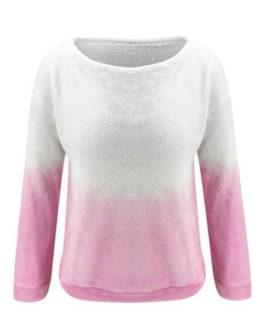Long Sleeves Two Tone Sweatshirt