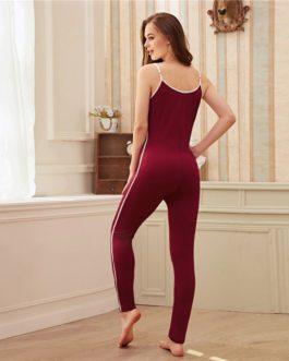 Nightwear Casual Sporting Slim Fitted Sleepwear Jumpsuits