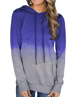 Ombre Hoodie Long Sleeves Hooded Sweatshirt