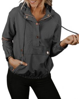 Outerwear Long Sleeves Hooded Sweatshirt