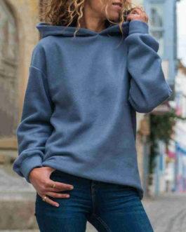 Oversized Pullover Long Sleeve Hooded Sweatshirt
