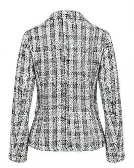 Plaid tweed Casual street wear office ladies Blazer