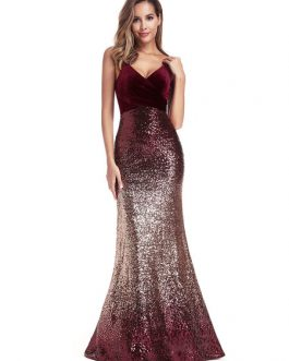 Sequin Party Backless Zipper Maxi Dresses