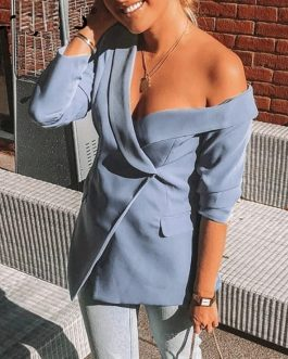 Sexy one shoulder women blazers and jackets