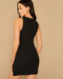 Slim Sexy Night Out Sleeveless Pencil Mini Party Dress