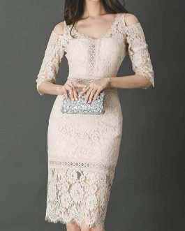 Stretch Cut Out Sexy Lace Dresses