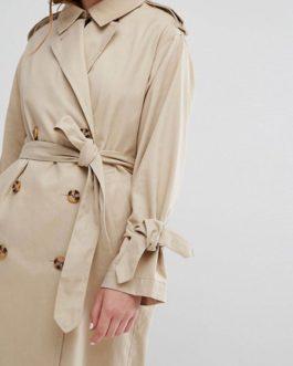 Trench Long Sleeve Turndown Collar Windproof Coat