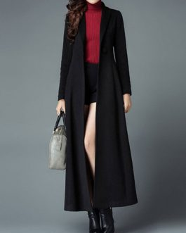 Turndown Collar Buttons Casual Oversized Coat