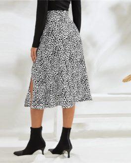 Sexy Print Fashion Ladies A Line Midi Skirts