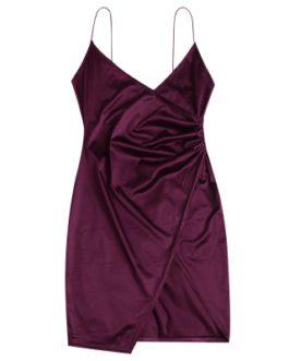 Cami Draped Crossover Slip Dress