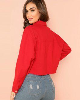 Casual Plain Long Sleeve Single Button Coat