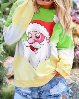 Christmas Hoodie Long Sleeves Cotton Blend Hooded Sweatshirt