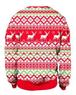 Christmas Oversized Printed Pullover Sweatshirt