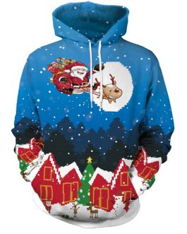 Christmas Pullover 3D Print Oversized Hooded Sweatshirt