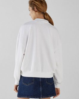 Cotton Rainbow Letters Logo Pullover Sweatshirt