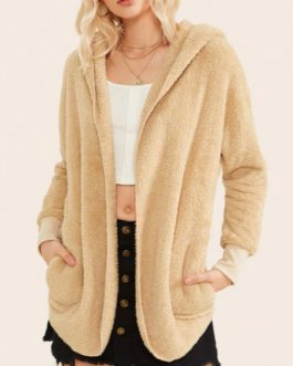 Faux Fur Long Sleeves Layered Artifical Coat