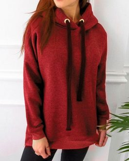 Hoodies Pullover Long Sleeves Hooded Sweatshirt