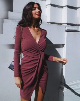 Irregular Sexy Off Shoulder Bodycon Mini Dress