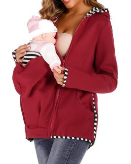 Kangaroo Hoodie Baby Carrier Pocket Pouch Holder Hooded Sweatshirt