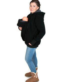 Kangaroo Pouch Hoodie Side Zipper Pet Baby Hooded Lightweight Jacket