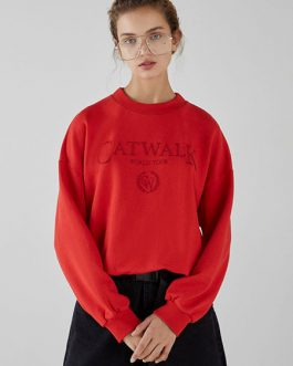 Logo Letters Casual Pullover Sweatshirt