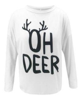 Long Sleeves Printed Casual Sweatshirt