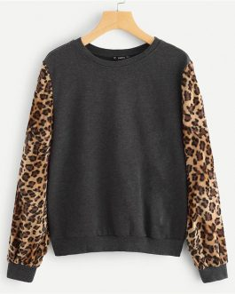 Modern Lady Highstreet Round Neck Sweatshirts