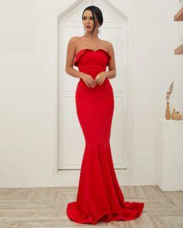 Off Shoulder Backless Vestidos Maxi Dress