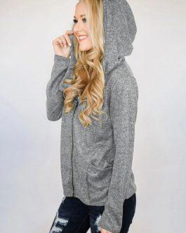 Outerwear Hoodies Long Sleeves Hooded Sweatshirt