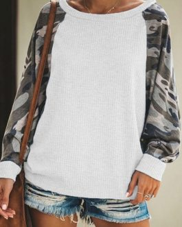 Outerwear Long Sleeves Two Tone Sweatshirt