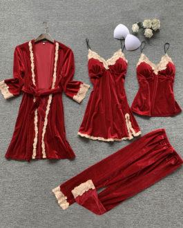 Pajamas Sleepwear Velour Lingerie